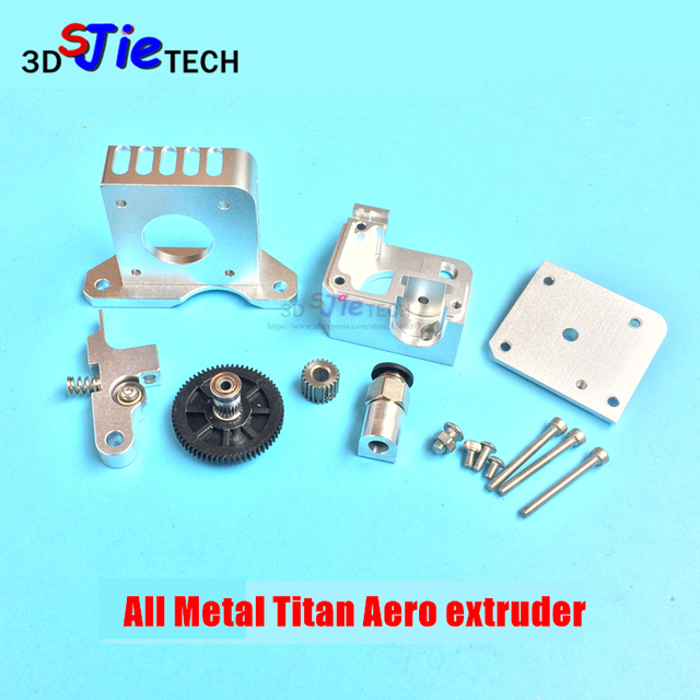 3D printer All metal Titan Aero Extruder 1.75mm for Prusa i3 MK2 3D printer for both Direct Drive and Bowden Mounting Bracket