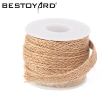 5M*10MM DIY Craft Vintage Natural Hessian Jute Twine Rope Wedding Party Burlap Ribbon Decor Home Spool Festival Scrapbooking(China)