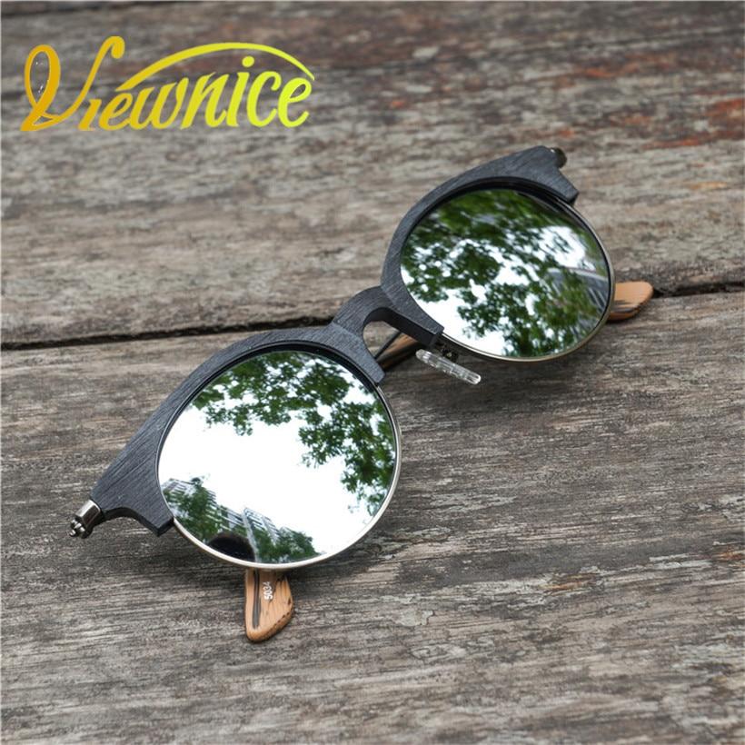 Viewnice Oculos de sol Masculino Retro sluneční brýle Žena Značka Návrhář Dřevo Zrno Luxusní gafas sol mujer kolo Brýle V5034