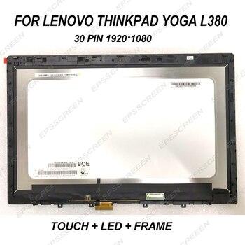 13.3 tela substituir para Lenovo Thinkpad L380 Yoga 20M7 Painel de toque digitador de vidro + LCD LED assembléia display full hd 30 pin