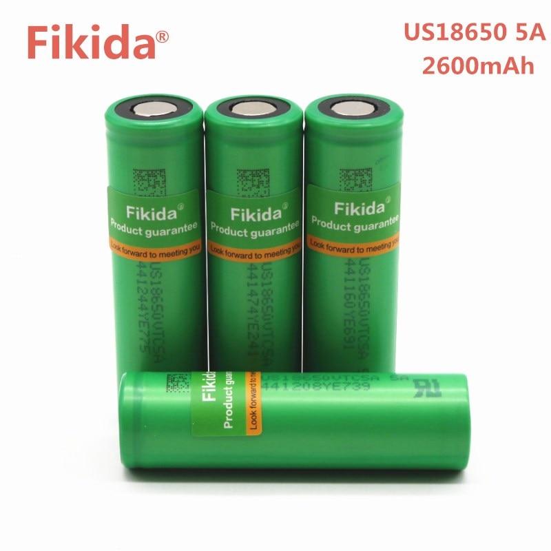 4 pz Fikida Originale 40A di Scarico 3.6 v 18650 Batteria US18650 VTC5A 2600 mah batteria Ad Alta Scarico 40A Batteria Per Sony per la E-sigaretta