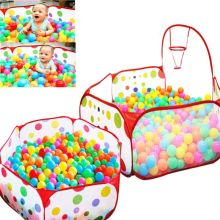 Hot Sale Kültéri Baby Playpen gyerekek Indoor Ball Pool Play sátor Kids Safe Polka Dot Hatszögletű Playpen hordozható összecsukható játékautók