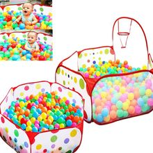 Retail Portable Baby Playpen Children Indoor Ball Pool Play Tent Foldable Playpens Outdoor Kids Safe Polka Dot Hexagon Playpen