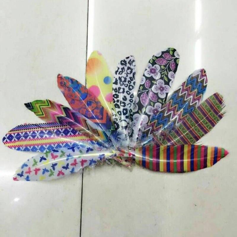 10 Pcs Colours  Per Set  Goose Feathers Home Celebrity Decoration15-20cm 6-8 Inch Accessory Plume