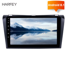 Harfey GPS auto Multimedia Speler Android 8.1 Auto Radio 2Din Voor 2004 2005 2006-2009 Mazda 3 9 inch auto Stereo ondersteuning DAB + TPMS(China)