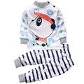 2 Pcs Bebê Menino Terno Conjunto Roupas Roupa pijamas menino Esporte conjunto terno Terno de Trilha para o Bebê Das Meninas Dos Meninos Camisa calças Traje Sleepwear