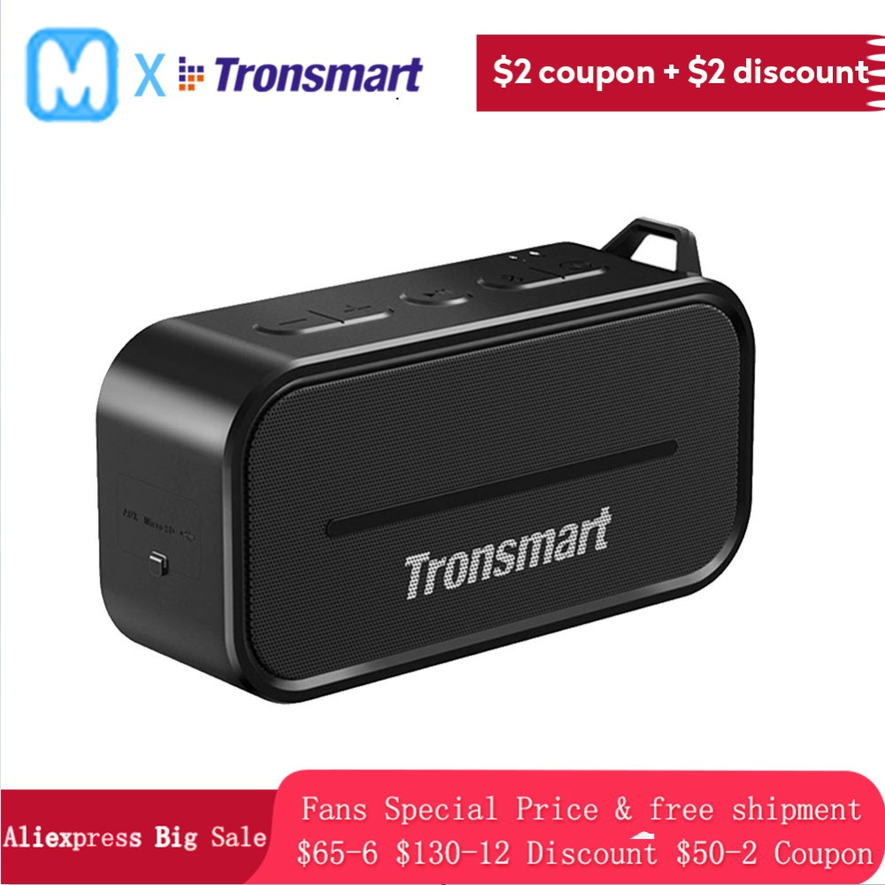 Tronsmart T2 Element T2 wireless bluetooth Portable speaker 24h Playtime with Mic Dual-Driver Waterproof  Outdoor  Speaker Tronsmart T2 Element T2 wireless bluetooth Portable speaker 24h Playtime with Mic Dual-Driver Waterproof  Outdoor  Speaker