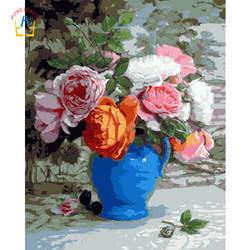 Дешевые морден картины маслом розы цветы для кухни акриловая краска для дома модульная живопись по номеру стены художественный домашний