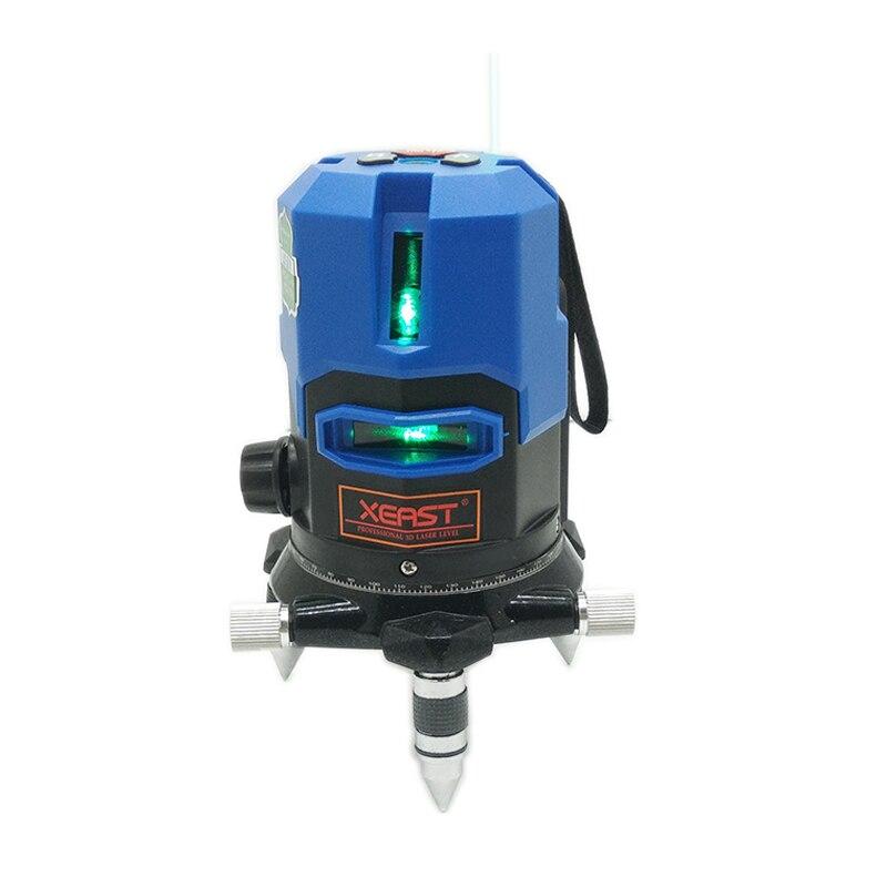 Xeast blau licht 5 linien 360 rotary automatische level laser level meter werkzeug maschine land leveler