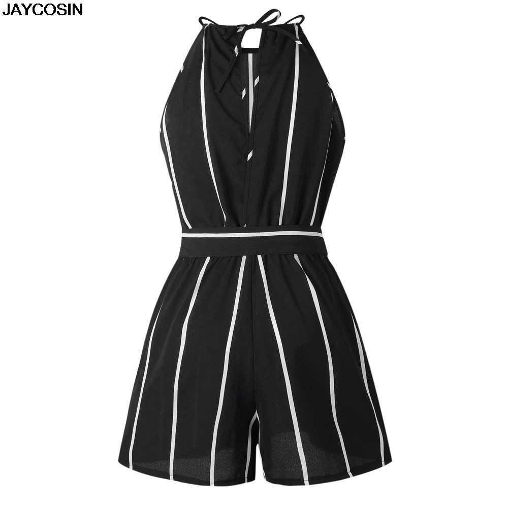 Jacosin Wanita Baju Monyet 2019 Fashion Printing Off Shoulder Jumpsuit Tanpa Lengan Pesta Pantai Playsuits Kasual Feminin Atasan 3.6