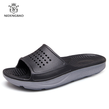 Hot Sale 2019 Summer EVA Slippers Men Sandals Fashion Hollow Out Breathable Beach Flip Flops for Male Big Size 36-49