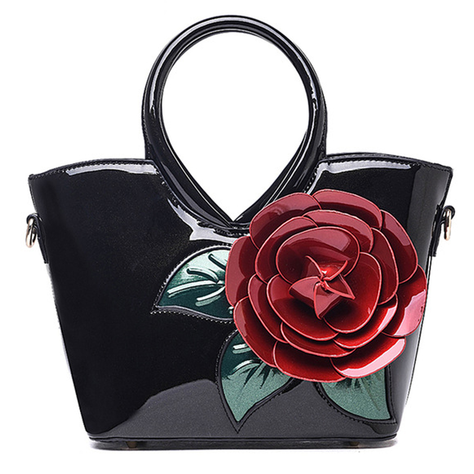 Luxury PU Leather Women Bags Handmade flowers Designer top-handle bags handbags Female Shoulder Bag Tote Bolsa sac a main kabelky brand big tote shoulder bags luxury handbags women bags designer pu leather top handle bags sac a main femme de marque
