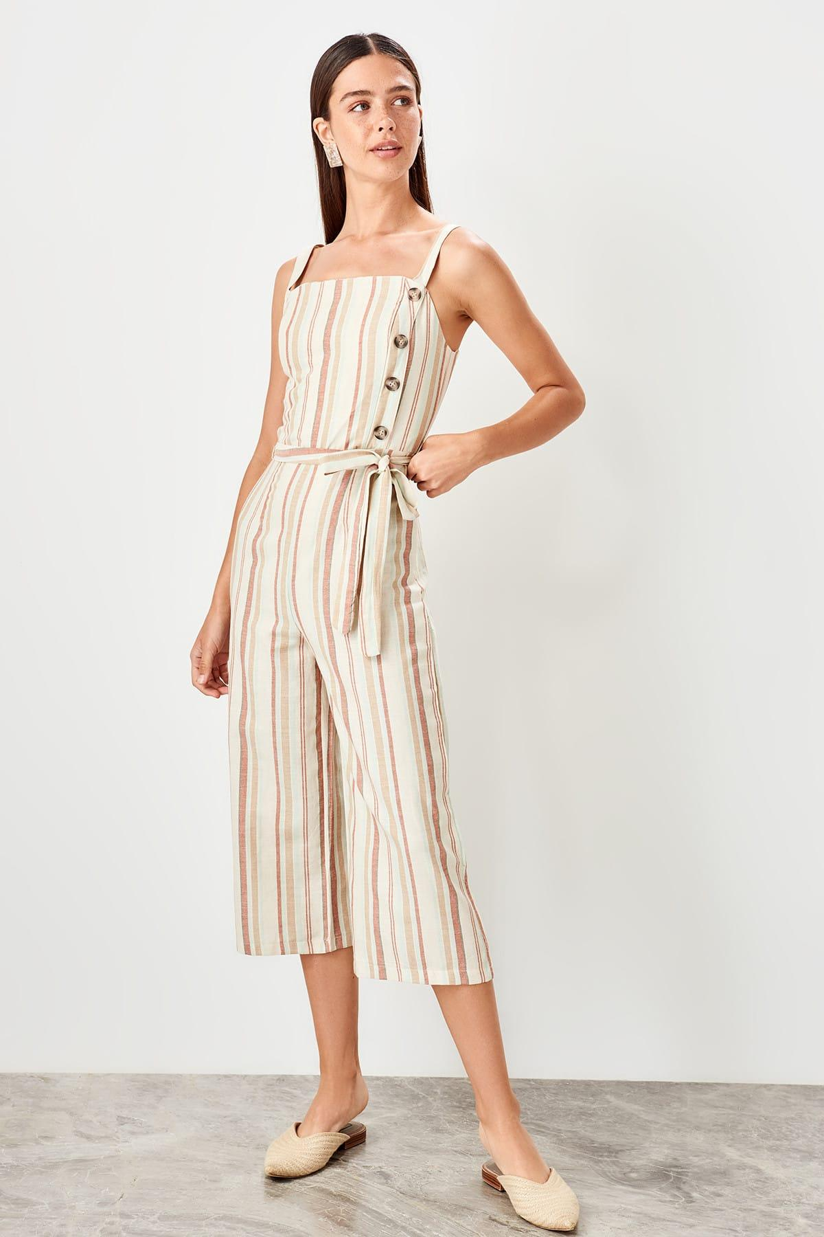 Trendyol Multicolour Stripe Jumpsuit TWOSS19TU0029