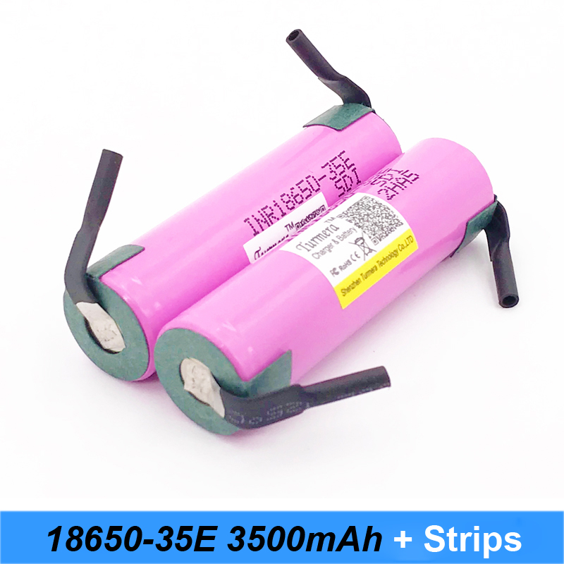 battery 18650 35e Turmera For samsung 18650 3500mAh 13A INR18650 35E 18650 battery for bike battery for screwdriver power bank