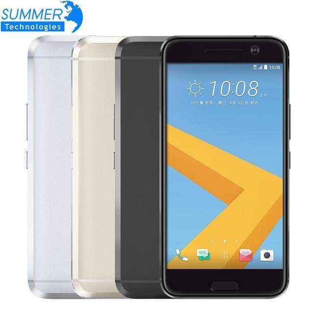 """Оригинальный разблокирована htc 10 M10 Android мобильного телефона 5,2 """"дюймов 12.0MP 3 ГБ Оперативная память 32 ГБ Встроенная память 4 ядра 4 г LTE смартфон"""