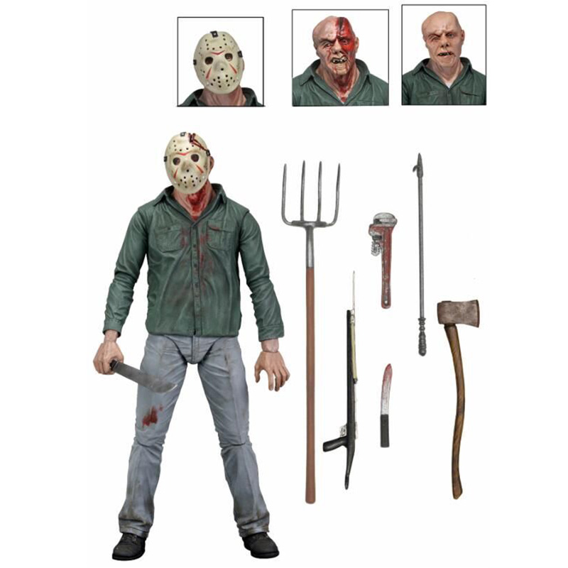 30th Freddy Krueger Jason pvc action figure toys 18cm no box movie a new dimension in terror a review of friday the 13th part3 3d freddy vs jason figure freddy pvc action figures