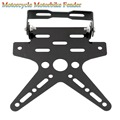 New Motorcycle Motorbike Fender Eliminator License Plate Bracket Steel Black Dirt Bike Atv Sport Durable Cool