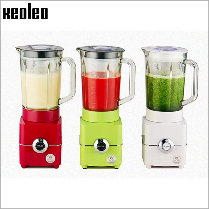 Xeoleo 1.5L Food blender 500W Food machine 220V Blender for Juice/Ice/Meat Juice mixer 3 speeds Glass cup ice sand machine