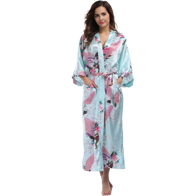 Women s Long Kimono Robe c3bcbde55