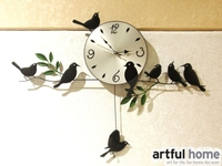 European Garden Fashionable Individual Character Wall Clock Forrest Bird Swing Creative Clocks Creative Colorful Forest Bird