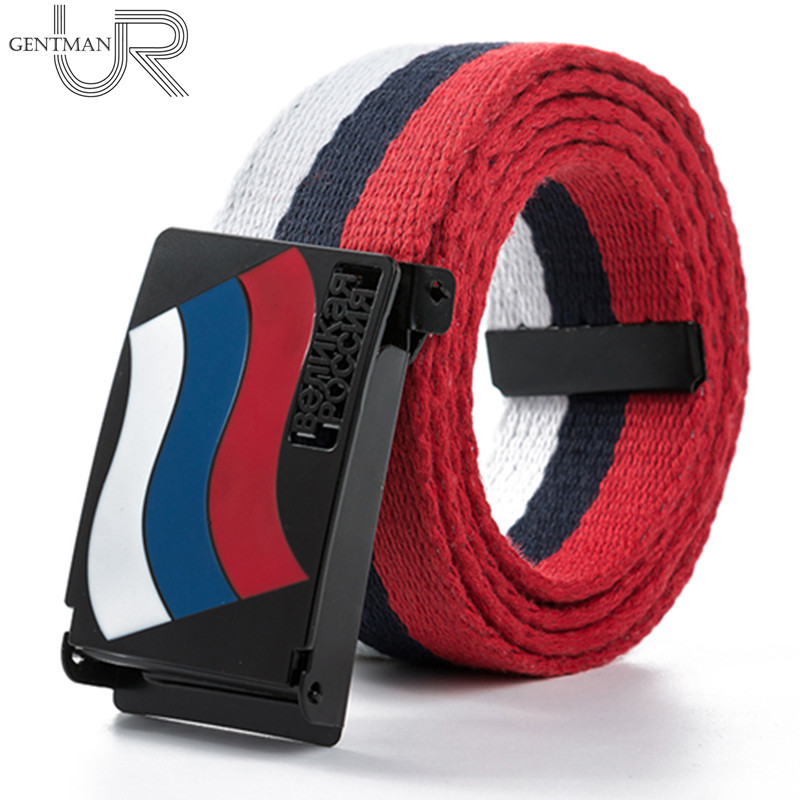 New Arrivals Casual Women And Men Great Russian Letter Canvas Belt High Quality Russian Flag Jeans Belts