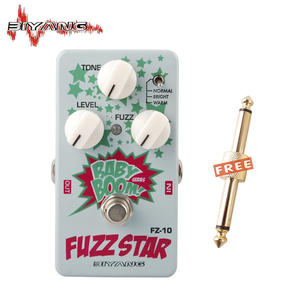 Biyang Baby Boom FZ-10 Electric Guitar Effect Pedal Three Models Fuzz Star Distortion True Bypass Musical Instruments 250 D aroma agf 3 guitar fuzz guitar effects pedal germanium fuzz distortion effect pedal powerful dynamic output true bypass