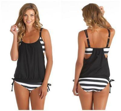 2017 New Bikini Set Vest Top +Bottom Bathing Suit– Plus Sizes