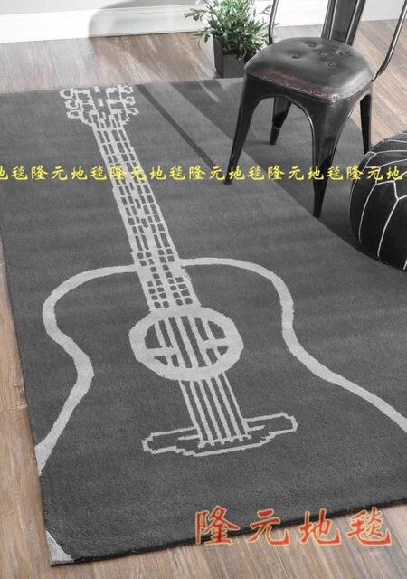 Coole Gitarre Teppich Handgefertigte Musical Bereich Zeitgenssische Wohnzimmer Strapazierfhiger Boden Teppiche Fr Jungen