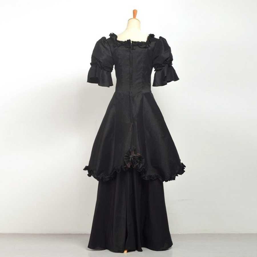 885375dba3c ... Gothic Renaissance Gown Victorian Dress Black Punk Women Halloween  Costume ...