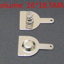 100 шт 18650 положительная и отрицательная одна Контактная пружина пластина(50 пар) 16x18,5 мм