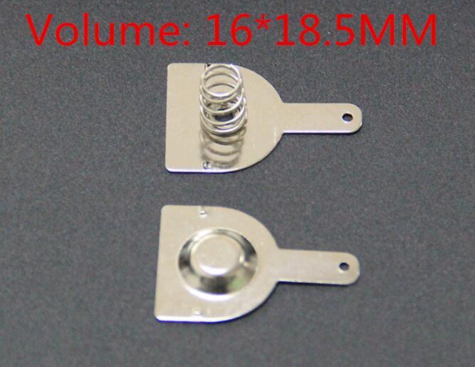 100 шт., 18650 положительные и отрицательные одиночные контактные Пружинные пластины (50 пар) 16x мм