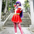 THE KING OF FIGHTERS Athena Asamiya Cosplay Wigs Long Purple Halloween Christmas Party Wigs