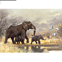 Full Square/Round Drill 5D DIY Diamond Painting Animal elephant Embroidery Cross Stitch  Home Decor Gift full square drill 5d diy girl elephant moon balloon night diamond painting cross stitch 3d embroidery kits home decor h39