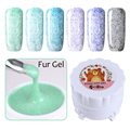 6 Colors/set Soak Off Fur Gel 5g Fur Effect Gel Polish Manicure Nail Art UV Gel Varnish Set 7-12