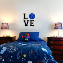 Love Basketball Wall Stickers Sport Vinyl Wall Decals for Kids Room Home Decor Bedroom Decoration(China)