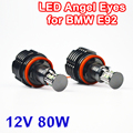 2 Pieces(1 Set) 2*40W 80W H8 Angel Eyes LED Marker CREE LED Chips XENON White 7000K for BMW E90 E92 X5 E71 X6 E82 M3 E60 E70