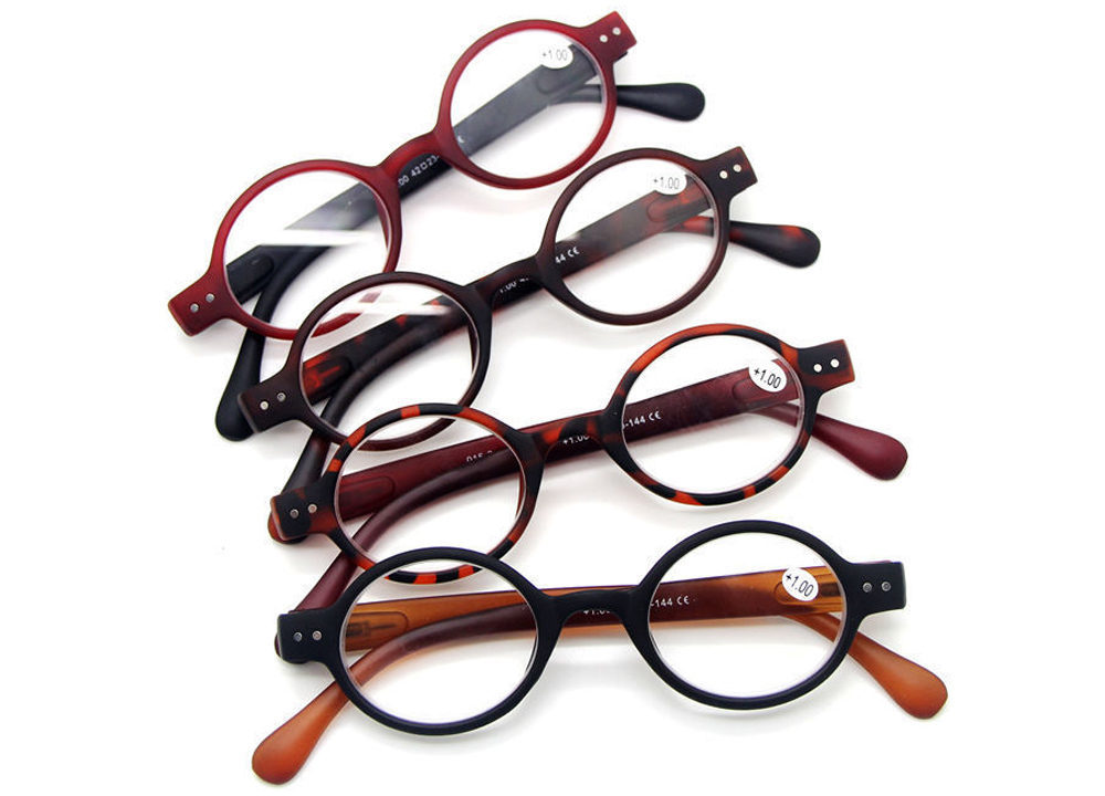 5e65ea827c Agstum Designer Small round Oval Oblate Vintage Spring Hinge Reading Glasses  +1 +1.5 +2 +3 +4-in Reading Glasses from Apparel Accessories on  Aliexpress.com ...