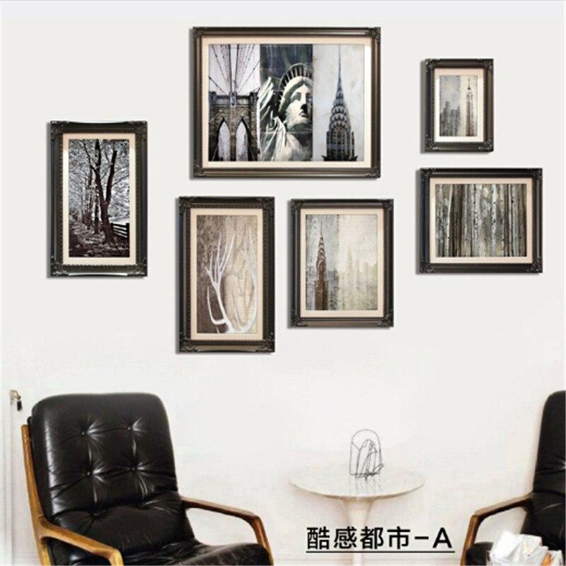 Marco de imagen contemporáneo de madera maciza marco nostálgico ...