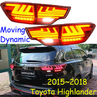 Автомобиль Стайлинг для Highlander задние фонари, 2015 2016 2017 2018 Highlander задний светодио дный задний фонарь, highlander задний фонарь