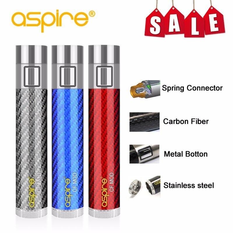 Cigarette électronique Mod offre spéciale dispositif Vape aspire CF batterie ressort connecteur 510 Tube de Fiber de carbone ajustement Nautilus réservoir