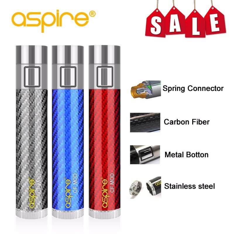 все цены на Electronic Cigarette Mod Special Offer Vape Device aspire CF Battery Spring Connector 510 Carbon Fiber Tube Fit Nautilus Tank