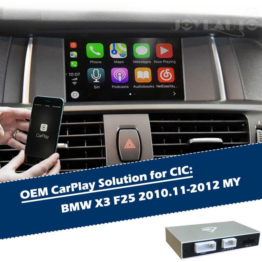 Aftermarket X3 F25 CIC 2010-2012 OEM Apple Carplay Android Auto Upgrade  Smart Auto Box Retrofit Car Play with Waze Spotify