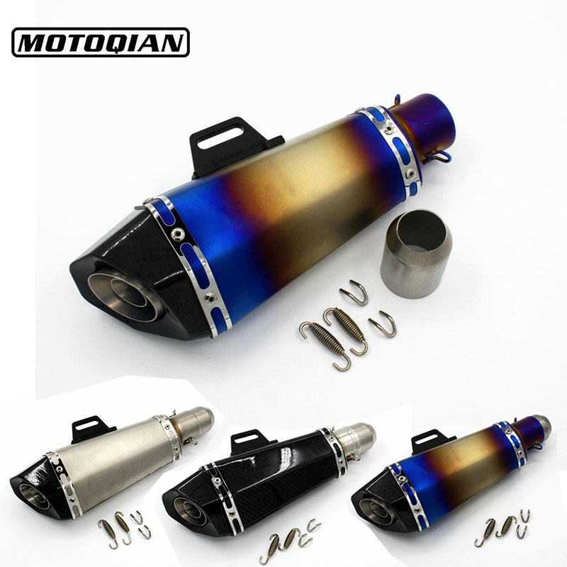 51mm Universal Motorcycle Exhaust Slip on Muffler Pipe Escape For Ducati Monster 400 620 695 796 821 1100 1200 Accessories