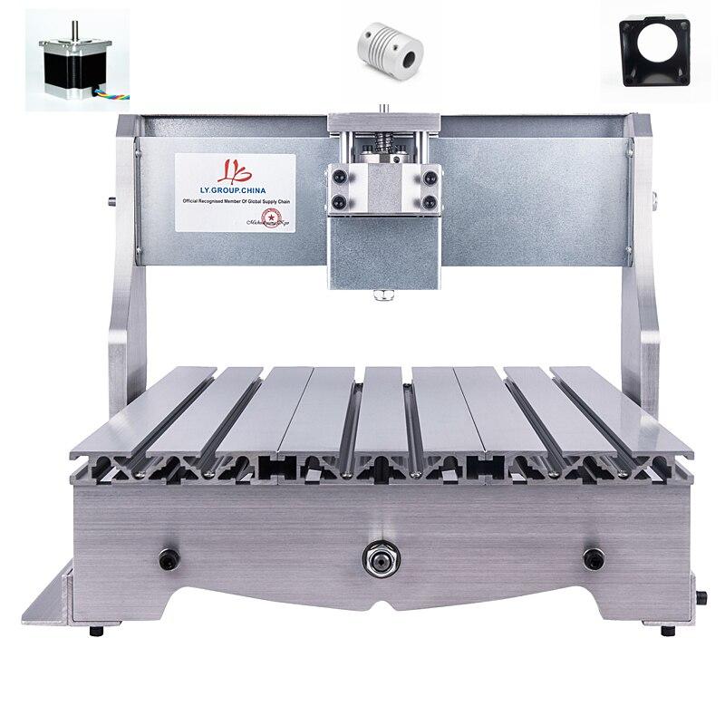 Mini cnc 3040 gravure BRICOLAGE cadre 65mm Broche moteur approprié bois routeur machine avec moteur pas à pas base couplage