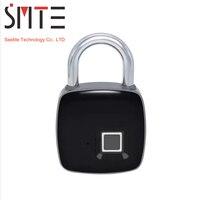 Fingerprint Padlock 3.7V 10 groups Micro USB Fingerprint Recognition Smart Lock Keyless Waterproof Security Anti Theft Padlock