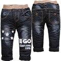 3773 de invierno NEGRO pantalones de lana pantalones casuales negro nuevo caliente niños grils pantalones del bebé pantalones vaqueros del bebé de INVIERNO niños niño