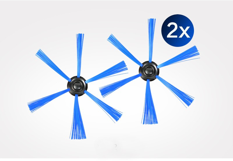 6pcs/set Vacuum Cleaner 2 filter screen+4round brush for Philips Robot FC8820 FC8810 FC8066 Sweeping robot accessories
