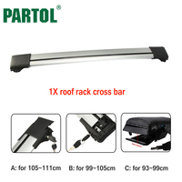 Partol 1x Car Roof Rack Crossbar Roof Luggage Carrier Roof Rail Snowbord Bike Rack Anti Theft