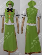 Envío gratis anime Tou Hou project Hoan Meiling cosplay traje