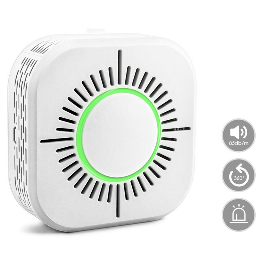 RF433 Smoke Detector Wireless Smoke Fire Alarm Sensor Security Protection Alarm For Home Automation